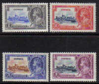 Cyprus Stamps SG 144-47 1935 Silver Jubilee KGV - MH