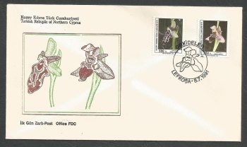 North Cyprus Stamps SG 304-05 1991 Orchids Flowers - Official FDC