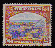 Cyprus Stamps SG 133 1934 1/4 Piastre - USED (c544)