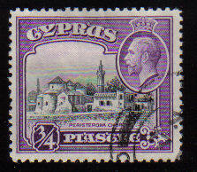 Cyprus Stamps SG 135 1934 3/4 Piastre - USED (c548)