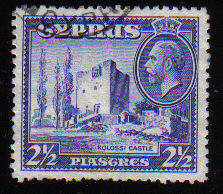 Cyprus Stamps SG 138 1934 2 1/2 Piastres - USED (c555)