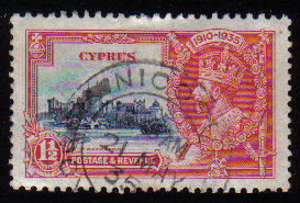 Cyprus Stamps SG 145 1935  1 1/2 Piastres - USED (c522)