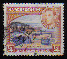 Cyprus Stamps SG 151 1938 KG VI 1/4 Piastre - USED (c527)
