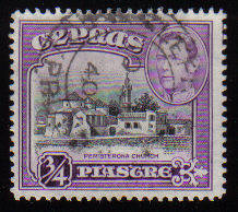 Cyprus Stamps SG 153 1938 KGVI  3/4 Piastre - USED (c532)