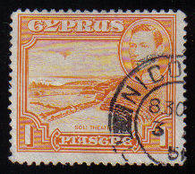 Cyprus Stamps SG 154 1938 KGVI  1 Piastre - USED (c534)