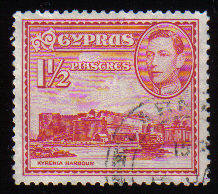 Cyprus Stamps SG 155 1938 KGVI  1 1/2  Piastres - Used (c536)
