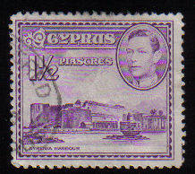 Cyprus Stamps SG 155a 1943 KGVI  1 1/2  Piastres - USED (c502)