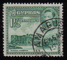 Cyprus Stamps SG 155ab 1951 KGVI  1 1/2  Piastres - USED (c503)