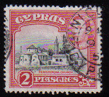 Cyprus Stamps SG 155b 1942 KGVI  2 Piastres - USED (c505)