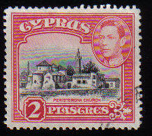 Cyprus Stamps SG 155b 1942 KGVI  2 Piastres - USED (c506)