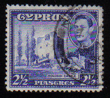 Cyprus Stamps SG 156 1938 KGVI  2 1/2 Piastres - USED (c508)