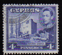 Cyprus Stamps SG 156b 1951 KGVI  4 Piastres - USED (c511)