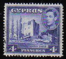 Cyprus Stamps SG 156b 1951 KGVI  4 Piastres - USED (c512)