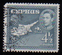 Cyprus Stamps SG 157 1938 KGVI  4 1/2 Piastres - USED (c513)