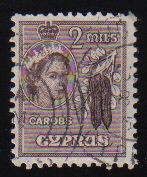Cyprus Stamps SG 173 1953 QEII  2 Mils - USED (c588)