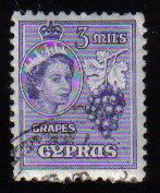 Cyprus Stamps SG 174 1955 QEII  3 Mils - Used (c590)