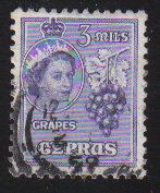 Cyprus Stamps SG 174 1955 QEII  3 Mils - Used (c591)