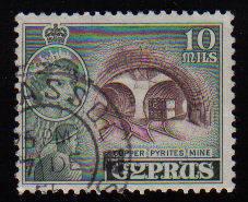 Cyprus Stamps SG 176 1955 QEII  10 Mils - Used (c594)