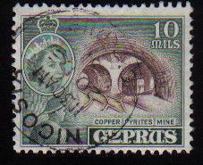 Cyprus Stamps SG 176 1955 QEII  10 Mils - Used (c595)