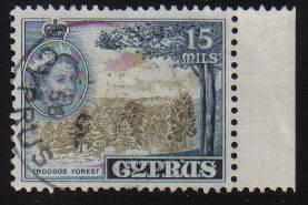 Cyprus Stamps SG 177 1955 QEII  15 Mils - Used (c596)
