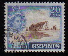 Cyprus Stamps SG 178 1955 QEII  20 Mils - Used (c598)