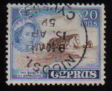 Cyprus Stamps SG 178 1955 QEII  20 Mils - Used (c599)