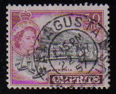 Cyprus Stamps SG 180 1955 QEII  30 Mils - USED (c600)