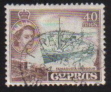Cyprus Stamps SG 182 1955 QEII  40 Mils - Used (c569)