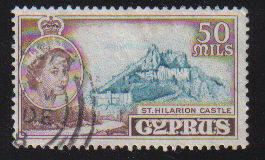 Cyprus Stamps SG 183 1955 QEII  50 Mils - Used (c571)