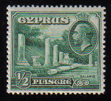Cyprus Stamps SG 134 1934 KGV 1/2 Piastre - MLH