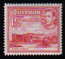 Cyprus Stamps SG 155 1938 1 1/2 Piastre KG VI - MINT