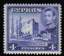 Cyprus Stamps SG 156b 1951 4 Piastres - MLH