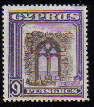 Cyprus Stamps SG 141 1934 KGV  9 Piastres  - MH