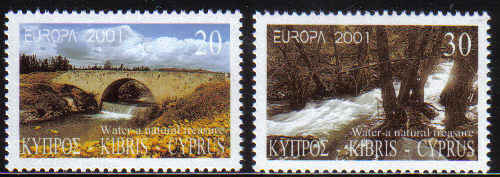 Cyprus Stamps SG 1015-16 2001 Europa Rivers - MINT
