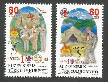 North Cyprus Stamps SG 0651-52 2007 Centenary of Scouting - MINT