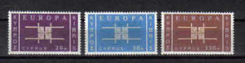 Cyprus Stamps SG 234-36 1963 Europa CEPT - MINT