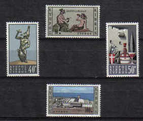 Cyprus Stamps SG 252-55 1964 Wine Industry in Cyprus - MINT