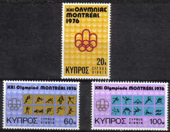Cyprus Stamps SG 471-73 1976 Montreal Olympic Games - MINT