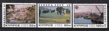 Cyprus Stamps SG 482-84 1977 Europa Landscapes - MINT