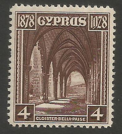 Cyprus Stamps SG 127 1928 Four Piastres 50th Anniversary of British rule -