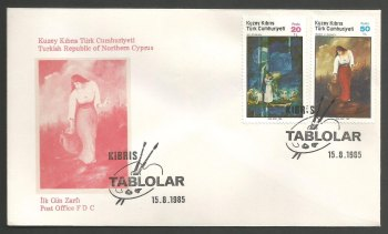 North Cyprus Stamps SG 176-77 1985 Art 4th Series - Official FDC