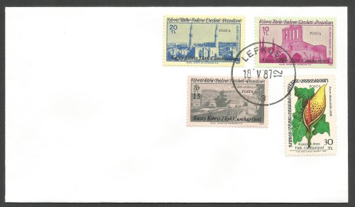 North Cyprus Stamps SG 204-07 1987 Overprints - Unofficial FDC (k255)