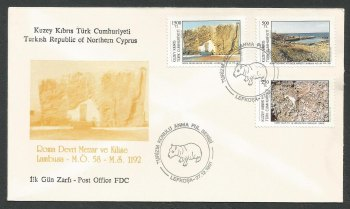North Cyprus Stamps SG 325-27 1991 Tourism 1st Series - Official FDC