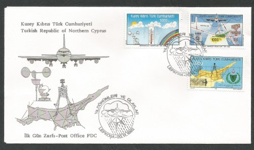 North Cyprus Stamps SG 344-46 1992 Aniversaries and Events 2nd Series - Off