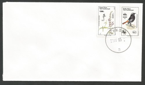 North Cyprus Stamps SG 389 and 391 1995 Overprints - Unofficial FDC