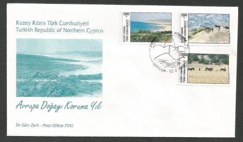 North Cyprus Stamps SG 392-94 1995 Conservation Year - Official FDC