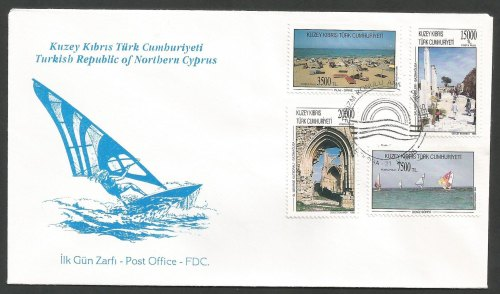 North Cyprus Stamps SG 404-07 1995 Tourism - Official FDC