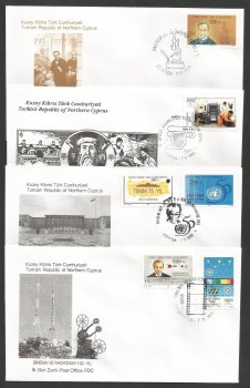 North Cyprus Stamps SG 409-14 1995 Anniversaries - Official FDC