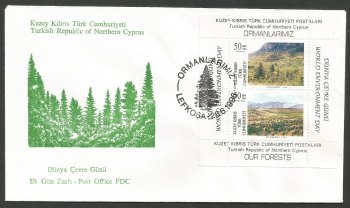 North Cyprus Stamps SG 428 MS 1996 World Environment Day - Official FDC