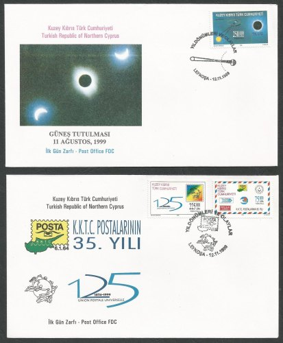 North Cyprus Stamps SG 496-98 1999 Anniversaries and Events - Official FDC